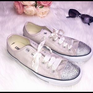 Converse Sequin and Bling Classic Low Tops